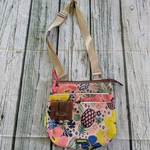 Lily Bloom tropical pineapple crossbody bag purse